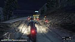 گیم پلی بازی جی تی ای وی ||مسابقه موتور سواری