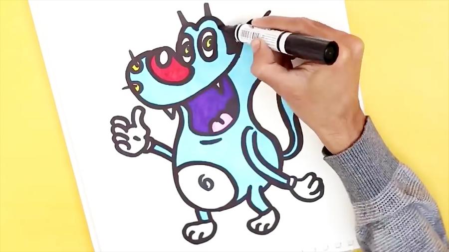 آموزش نقاشی کارتون اوگی