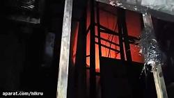 آتش سوزی در یک ساختمان تجاری در بازار بزرگ، بازار پاچنار، سرای سید ولی