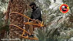 تنظیم دستگاه بالابر نخل گلارو با قطر درخت در حین کار