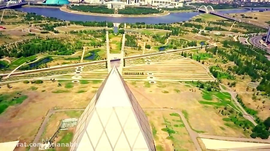 فیلم هوای از آستانه پایتخت کشور قزاقستان