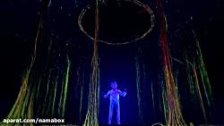 اجرای مجازی دیدنی در مسابقه ی گات تلنت آمریکا