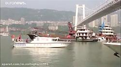 سقوط اتوبوس از پل در چین