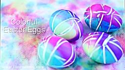 تخم مرغ رنگی خوشگل هفت سین آموزش دزست کردن تخم مرغ رنگی
