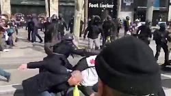کتک زدن وحشیانه جلیقه زردها توسط پلیس فرانسه