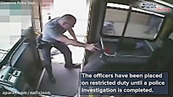درگیری مرگبار دو افسر آمریکایی با یک مرد در اتوبوس