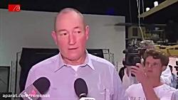زدن تخم مرغ به سر سناتور نژادپرست استرالیا
