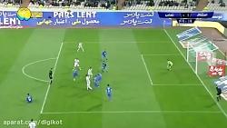 خلاصه بازی و گل استقلال 1 - 0 نساجی