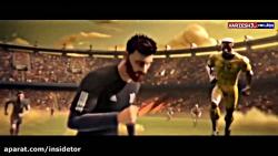 انیمیشنی زیبا از زندگی لیونل مسی