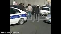 فیلم کتک زدن زن توسط پلیس راهور