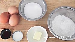 کیک اسفنجی - آشپزی ژاپن...