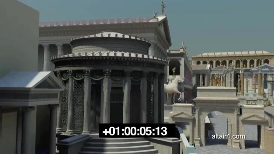 شبیه سازی معبد وستا در رومان فروم