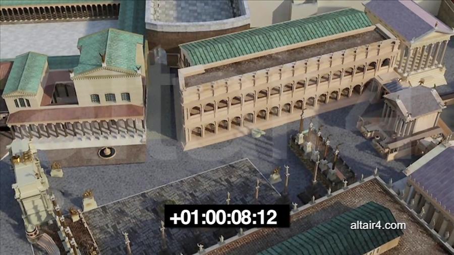 شبیه سازی باسیلیکای امیلیا در رومان فروم