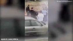 ضرب و شتم زن جوان توسط پلیس آمریکا