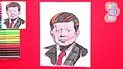 How to draw President John F. Kennedy