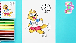 How to draw and color Zabivaka - FIFA World Cup 2018 Mascot