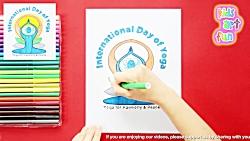 How to draw International Yoga Day Logo