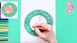 How to draw and color Roland Garros - French Open Tennis Logo