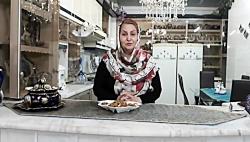 آموزش سوهان عسلی بادام و زعفران مناسب ایام عید نوروز