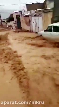 سیل در کوچه های شیراز