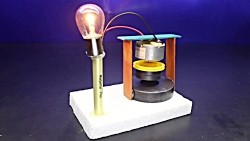 Free Energy Electric Power Generator With Dc Motor 100% New Experiment Project