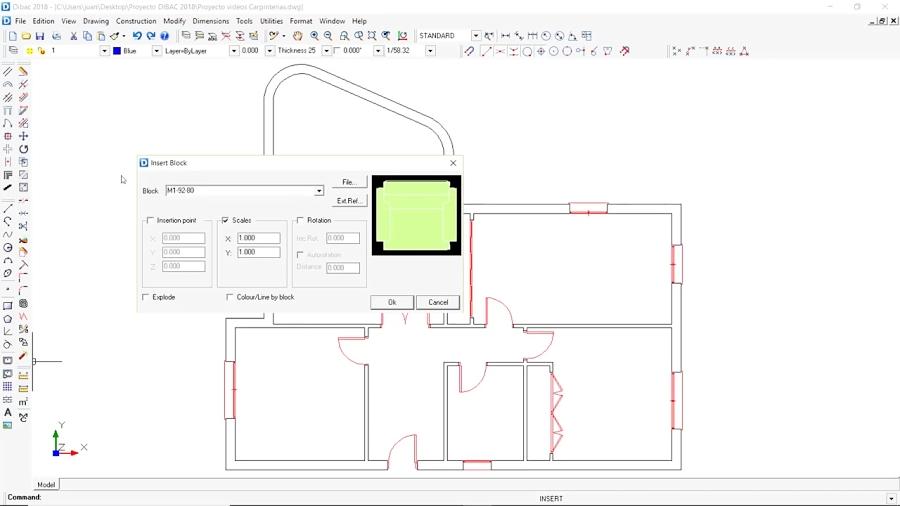 آموزش نرم افزار Dibac CAD ( طراحی داخلی و معماری) قسمت 32