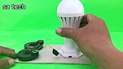 Free energy  with light bulbs using two ma...
