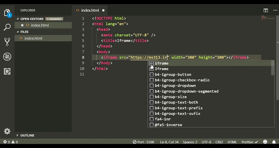 قسمت یازدهم آموزش HTML5