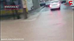 سیلاب وارد دره شهر ایلا...