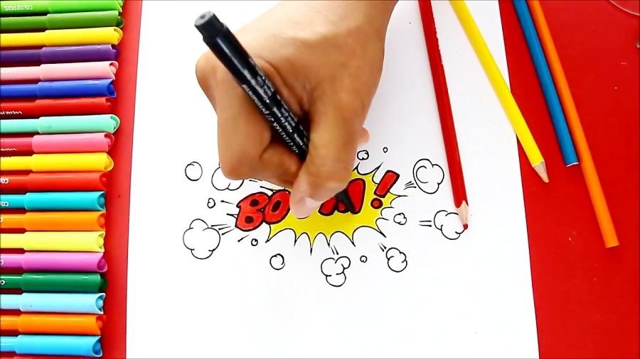 How to draw a Boom! Text Comic