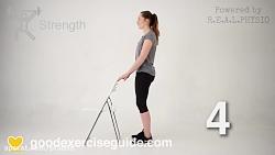 ورزش های تعویض مفصل لگن ( از هفته 6 به بعد تا هفته 12 ))
