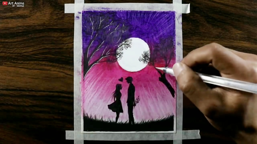 Romantic Anime Couple Drawing With Oil Pastels Step By Step