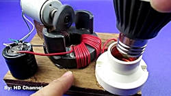 Experiment DC motor & Magnets, School project free energy