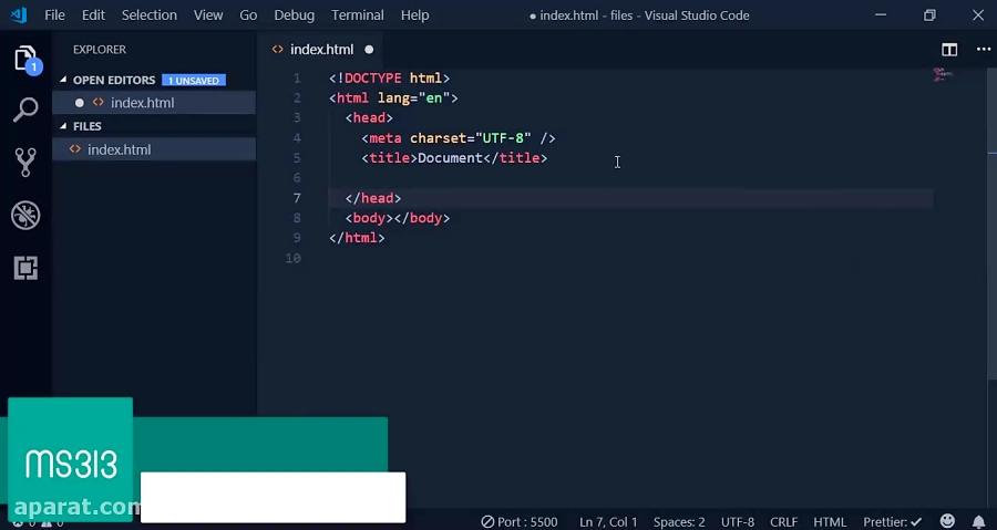 تغییر رنگ منو موبایل با کد html