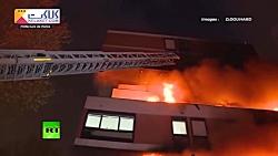 انفجار و آتش سوزی مهیب در پاریس