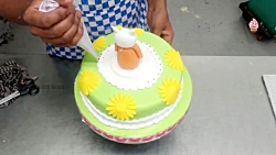 ویدیوی خوشمزه - کیک آرایی - آموزش تزیین کیک مدل کیتی
