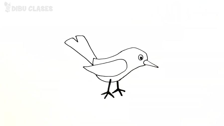 Cómo dibujar un Pajarito paso a paso | Dibujos Fáciles Para Niños Pequeñ