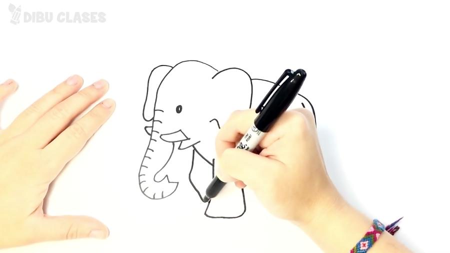 Cómo dibujar un Elefante paso a paso | Dibujos Fáciles Para Niños