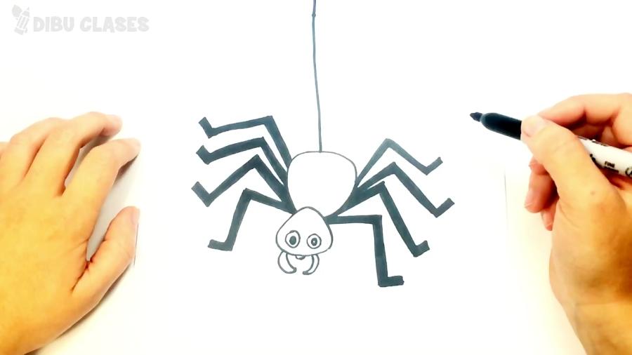 Cómo dibujar un Araña paso a paso | Dibujos Muy Fáciles de Hacer