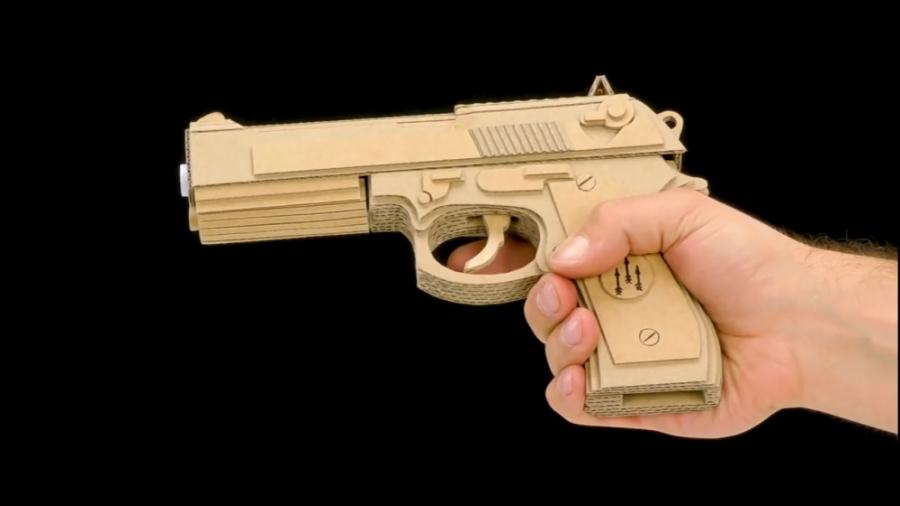 ساخت تفنگ کلت با کارتن