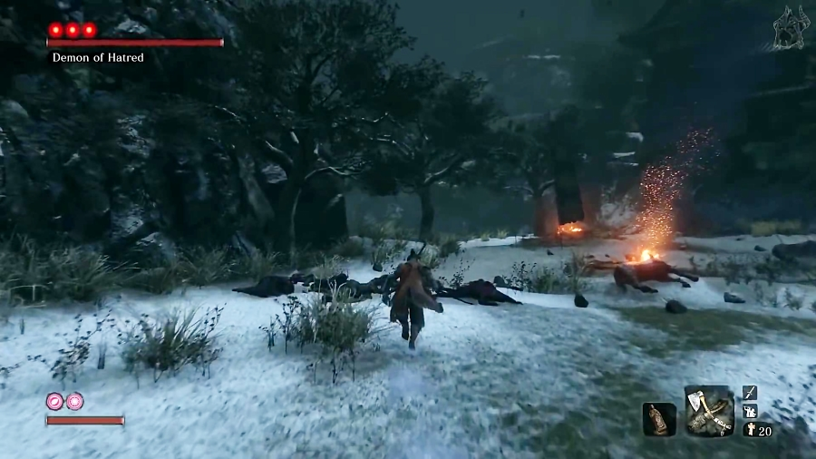 کشتن Demon of Hatred ظرف 60 ثانیه در بازی Sekiro Shadows Die Twice