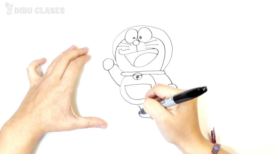 Cómo dibujar a Doraemon paso a paso | Dibujos Para Niños Pequeños