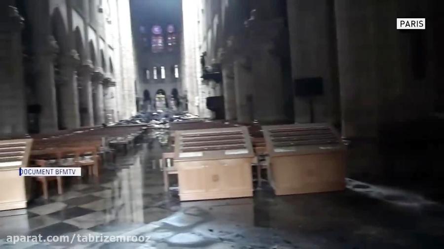 کلیسای نوتردام بعد از آتش