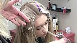 رنگ کردن مو - رنگ کردن مو بسیار زیبا و آسان