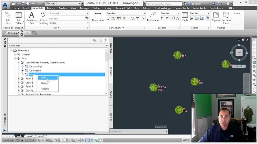 Survey Database Point Groups - AutoCAD Civil 3D 2011 for