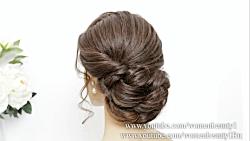 شینیون زیبا برای موهای بلند