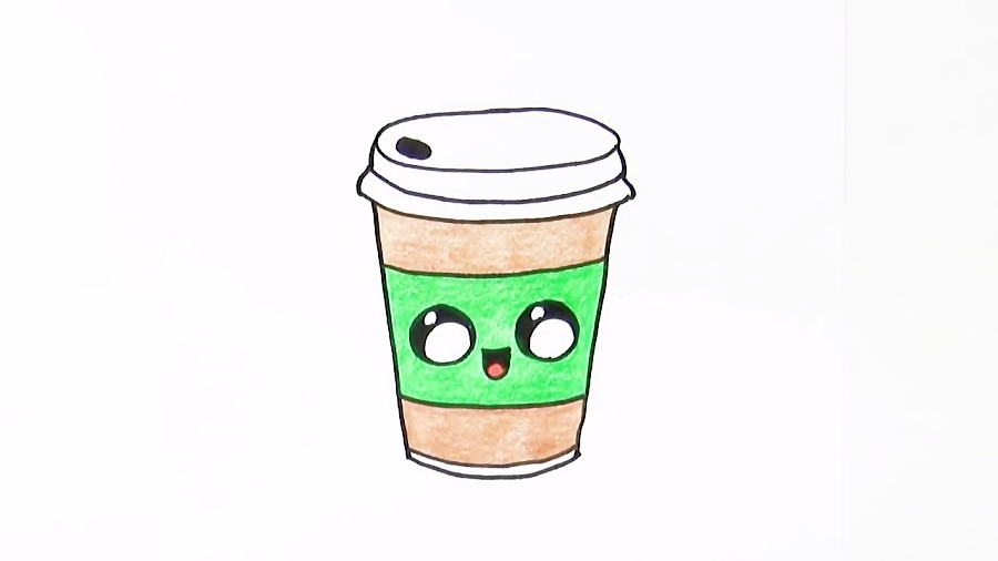 How To Draw Cat Rainbow Starbucks Drink