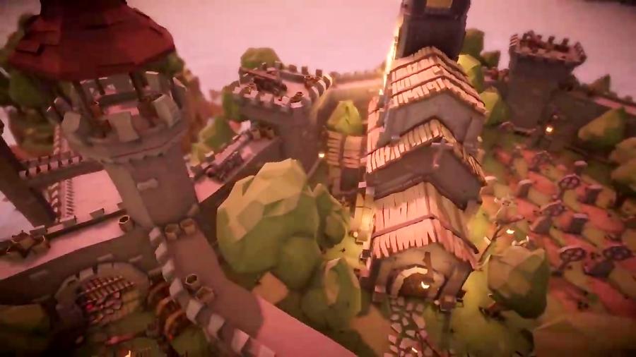 پیش نمایش پکیج مدل سه بعدی قلعه قرون وسطی Low Poly