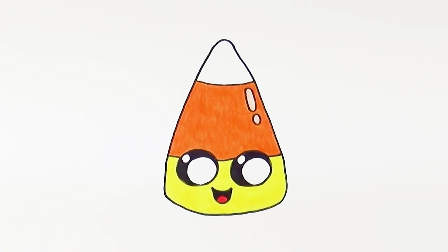 How to Draw Candy Corn Cute Kawaii
