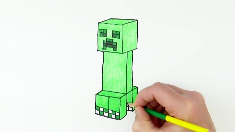 How to Draw Creeper from Minecraft Easy
